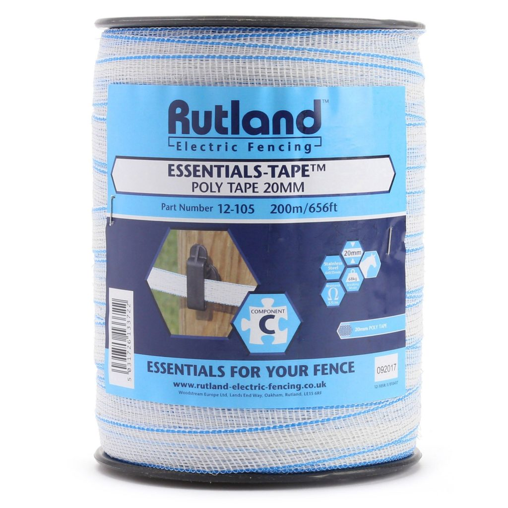 Rutland Essentials Poly Tape 20mm (200m) Twin Pack