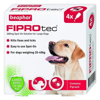 Beaphar FIPROtec Spot-On Dog Large 4 Pipettes