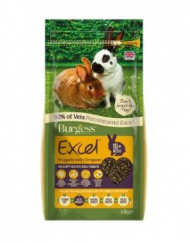 Burgess Excel Adult Rabbit Nuggets With Oregano 2Kg