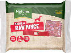 Natures Menu Just Beef Raw Mince 400g