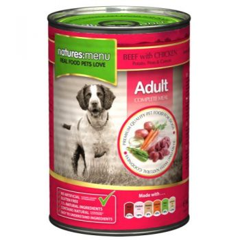 Natures Menu Beef with Chicken 400g Can