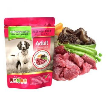 Natures Menu Dog Pouches – Beef With Tripe 300g