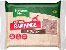 Natures Menu Just Beef & Tripe Raw Mince 400g