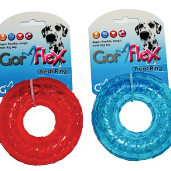 Gor Flex Treat Ring (10cm) Red/Blue