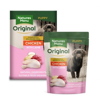 Natures Menu Dog Pouches – Junior Chicken with Lamb 300g