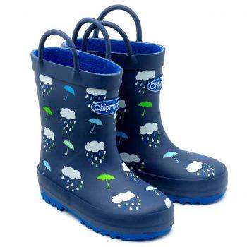 Chipmunks Rain Navy Wellington Boots