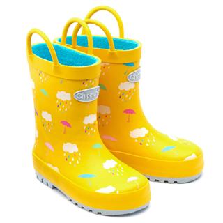 Chipmunk Rain Yellow Wellington Boots