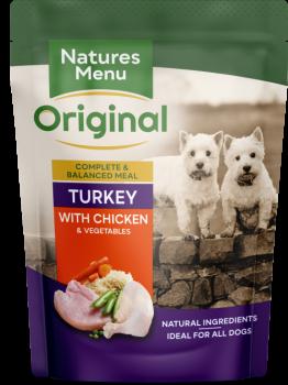 Natures Menu Dog Pouches – Turkey with Chicken