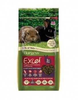 Burgess Excel Mature Rabbit Nuggets Cranberry/Ginseng 2Kg
