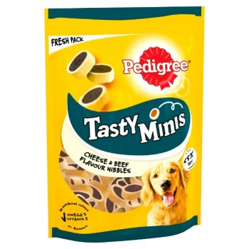 Pedigree Tasty Minis Cheese & Beef Flavour Nibbles 140g