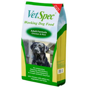 VetSpec Working Dog Adult Chicken & Rice 15Kg